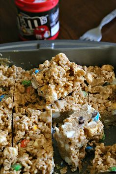 No-Bake M&M'S® Cookie Butter Avalanche Bars | Wallflour Girl