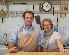 Jon & Anna Wilkins - farmers and #butchers of English Longhorn cattle and rare breed pigs - run The Pointer Butcher in Brill, one of our stockists in #Buckinghamshire.
