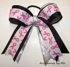 cheer bows | ... Bows, : Awareness Pink Breast Cancer Ribbon Streamer Cheer Bow $12.00