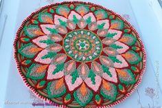 "Коврик"" Георгин "", связан в технике Overlay Crochet, размер 72 см, нитки акрил, мастер класс тут http://www.liveinternet.ru/users/5915568/post388641388/# фото 1"