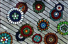 Glass on Glass Mosaic Window by shannonrossalbers, via Flickr