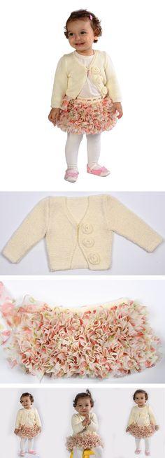 Çocukların ve büyüklerin hırka, kazak tasarımlarında kullanılabileceğiniz Kartopu Aksimli ile farklı modeller elde edebilirsiniz. Yapılışını öğrenmek için: https://www.hobium.com/atolye/kiz-cocuklari-icin-orgu-firfirli-etek-ve-gul-motifli-hirka