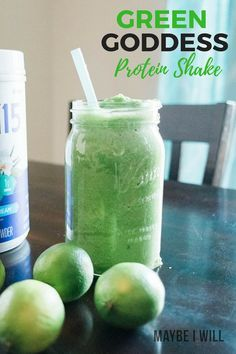 The perfect light and refreshing shake, perfect for post workout - this green goddess protein shake is full of nutrient rich ingredients to help you glow! #smoothie #greensmoothie #shake #protein #proteinshake #cleaneating #healthyrecipes #healthylifestyle #healthyeating