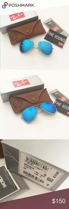 NIB RayBan aviator 112/17 matte sunglasses 58mm Brand new in box!!!! Blue lens. Authentic!!! ❌no Lowballing offers!!!! No trade. Thanks! Ray-Ban Accessories Sunglasses