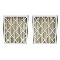 2 Pleated HVAC Filters for Ultravation Systems, MERV-8 Rating, Approx Size: 20x25x5