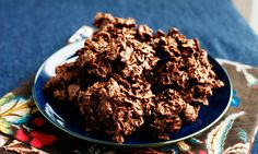 NO BAKE!! Chocolate/Peanut Butter Haystacks. Made with corn flakes. These are delicious and SO easy to make!! I also add butterscotch chips to the recipe.