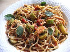 Spaghetti in Zucchini-Thunfisch Sauce, ein sehr schönes Rezept aus der Kategorie Fisch. Bewertungen: 18. Durchschnitt: Ø 4,2.