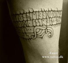 Kai Uwe Faust - www. Tattoo Cake, V Tattoo, Rune Tattoo, Text Tattoo, Back Tattoo, Body Art Tattoos, Cool Tattoos, Tatoos, Amazing Tattoos