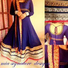 Pretty Blue Anarkali