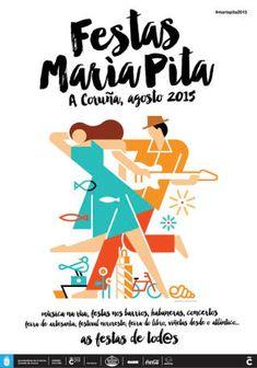 Cartel Fiestas LA CORUÑA 2015 (Agosto)