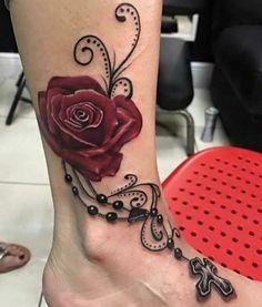 Vine Tattoos, Dream Tattoos, Foot Tattoos, Body Art Tattoos, Sweet Tattoos, Girly Tattoos, Black Tattoos, Roseary Tattoo, Chic Tattoo