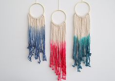Hand Dyed Macrame Wall Hanging by MaisJewelry on Etsy