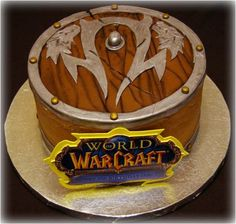 World of Warcraft Cake...hubby would die if I got him this but it would have to be as an ice cream cake or something special like carrot cake or something.