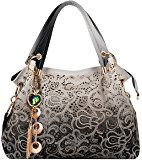Coofit Ladies Faux Leather Handbags Shoulder Bags Totes Bags for Women's Fashion Vintage Purse
