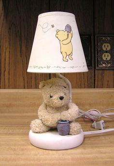 Classic Winnie The Pooh Lamp Nursery Children Tigger Piglet Nightlite Disney on eBay $24.99 plus shipping