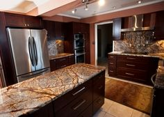 "Granite ""Rainforest Brown"" Probably too golden brown but also includes treys and lighter tones"