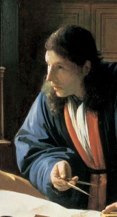 The Geographer by Vermeer. Guggenheim. (detail)