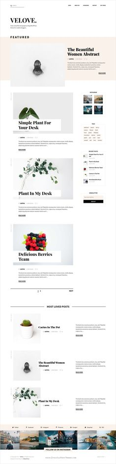 Velove is clean and modern design responsive #WordPress #blog theme for creative #writer and bloggers website download now..