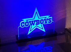 Dallas Cowboys NFL Multi color LED Sign with Remote Control -  Made In USA!  -  Great for a Bar - Pub - Man Cave - Game Room - Club by InspiredLaserDesign on Etsy https://www.etsy.com/listing/213807980/dallas-cowboys-nfl-multi-color-led-sign