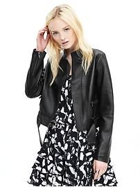 Leather Moto Buckle Jacket