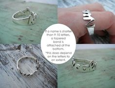 Name or word ring  Personalized  you choose the name by hellothula, $54.00