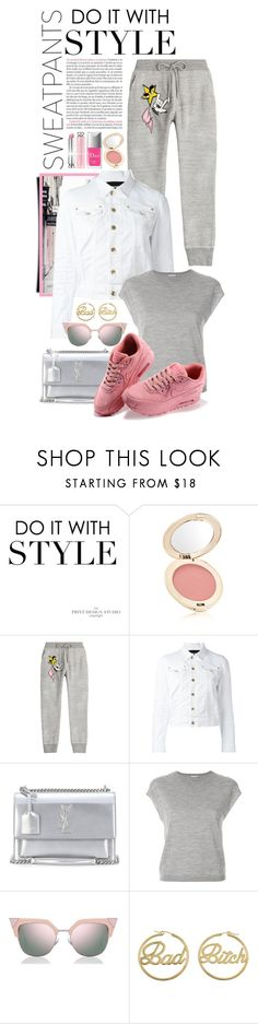 """""""Comfort is Key: Sweatpants"""" by shortyluv718 ❤ liked on Polyvore featuring Jane Iredale, Dsquared2, Yves Saint Laurent, Hemisphere, Fendi, me you, Christian Dior and sweatpants"""