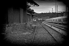 Series A Coruna Train - old station Railroad Tracks, Train, Strollers, Train Tracks
