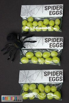 Spider Eggs Printable for Harvest Party, Spider Unit or Halloween - Spider Themed Food Idea