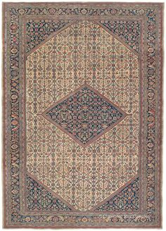 SULTANABAD - West Central Persian 11ft 4in x 15ft 10in Late 19th Century