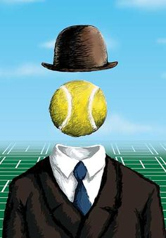 Magritte plays tennis! #tennis