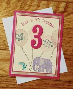 Girl Birthday Card Toddler Gift 3 Year Old Granddaughter Boy