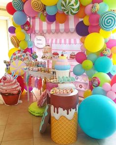 mias first birthday Candy Theme Birthday Party, Candy Land Theme, Candy Party, 1st Birthday Parties, Birthday Party Decorations, Birthday Banners, Carnival Birthday, Birthday Invitations, Donut Party