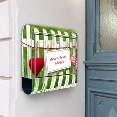DEIN Wunschtext auf Briefkasten Gartenzaun von banjado via dawanda.com