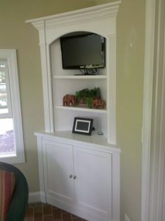 Incroyable Corner Built In Hutch W/ Deeper Lower Cabinet Vs Upper Cabinet   Add Lower  Drawer