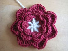 A useful pattern for decorative flowers. This works for most yarn types, just match your hook size to your yarn.
