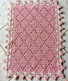 Pink Baby Blanket, Baby Blanket Crochet, Crochet Baby, Crochet Tablecloth, Crochet Doilies, Crochet Flower Patterns, Crochet Flowers, Crochet Afgans, Unique Crochet