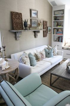 beachy accents and soft colors