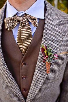 a9da109acefe Вдохновение цветом  теплые шоколадные оттенки в оформлении свадьбы  Винтажные Свадебные Костюмы, Винтаж Одежда Шаферов