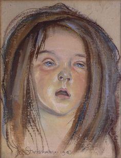 Stanisław Wyspiański, Główka Helenki, córki artysty  |  1900, pastel, papier, Muzeum Narodowe w Warszawie