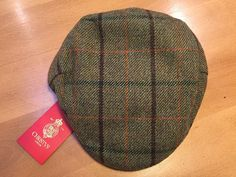 Heritage Traditions Blue Check Prince of Wales Tweed Flat Cap