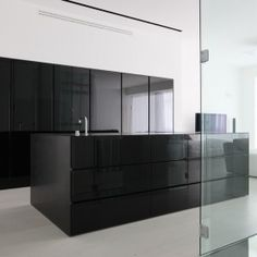 Neos And Cult Headline These Rather Rational Kitchen Designs  . See More.  Black Kitchen