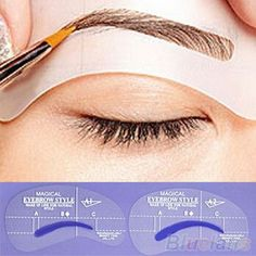 4pcs C style makeup eyebrow stencils maquiagens for pincel brushes lapis tordo kit maquillaje styling tools Free Shipping
