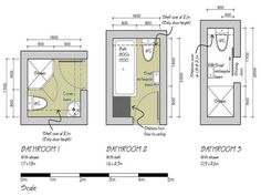 Small Bathroom Floor Plans 3 Option Best for Small Space