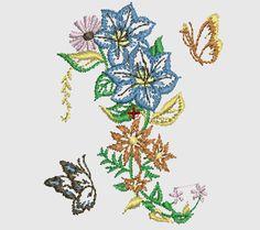 Bordados Gratis, Flores para Tipos de Telas ~ Bordados Descargar Gratis, 200,000 mil Diseños Bordados Descargar Gratis