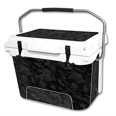 MightySkins Protective Vinyl Skin Decal Wrap for RTIC 20 qt Cooler cover sticker Black Camo * Be sure to check out this awesome product.(This is an Amazon affiliate link and I receive a commission for the sales)