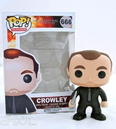 John & I made this custom Supernatural Funko Pop! for Mark Sheppard, who plays Crowley, & gave it to him over the weekend. Lots more pics at the link, including Mark & us together!