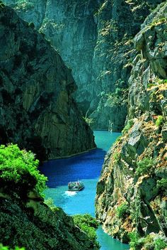 How beautiful and peaceful this looks! Douro River in northern Portugal.