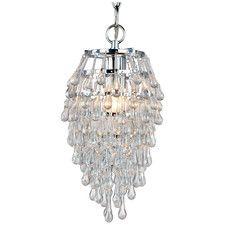 Want this!!!!! Crystal Teardrop 1 Light Mini Chandelier.