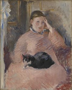 Manet, 1882. This unfinished portrait is of Manet's wife. It is one of his later works, painted a few years before his death at the age of fifty-one. The...
