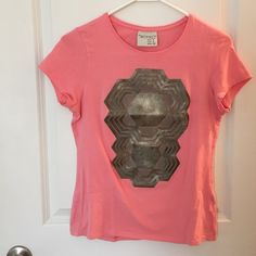 ZARA collection leather t shirt✂️ANY OFFER WELCOME Great used condition. No rips or stains. Pink with leather. 30% off on bundles of two items or more! ✂️OFFERS WELCOME✂️ Zara Tops Tees - Short Sleeve